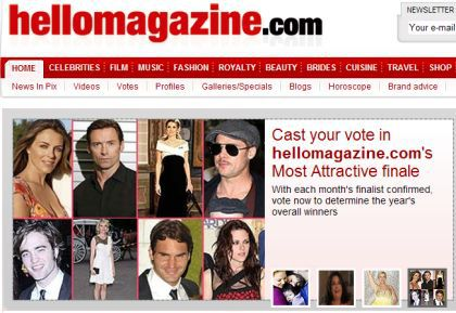 Vote for Madonna at HELLO! Magazine Grand Finale 2009