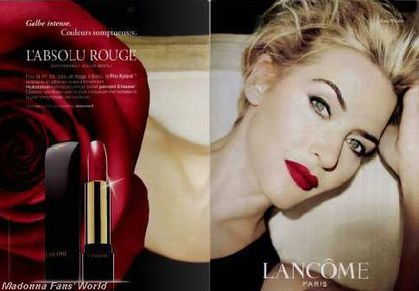 Kate Winslet recreates Madonna look in new French Lancome cosmetics ad