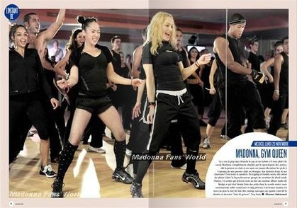 Madonna Hard Candy Fitness in French magazine: ''Madonna, Gym Queen''