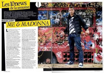 Interview with Brahim Zaibat on Madonna in French magazine ''Grazia''