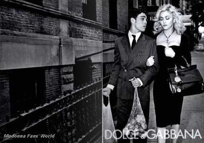 Seven D&G Autumn-Winter 2010/11 ad with Madonna in French magazine