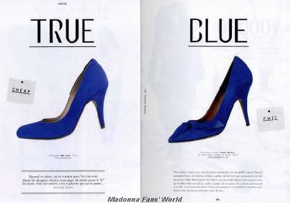 'True Blue' shoes ad in French magazine
