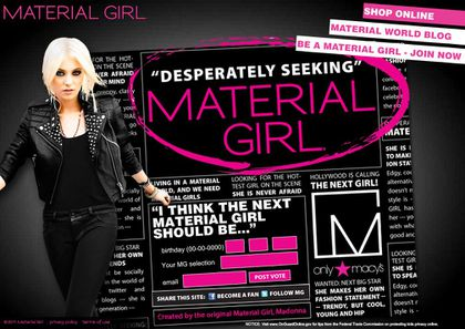 Vote for the new Material Girl for Madonna's Collection