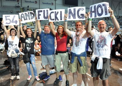 Madonna - MDNA Tour: Fans wishing Happy Birthday to Madonna in Oslo, Norway - August 15, 2012