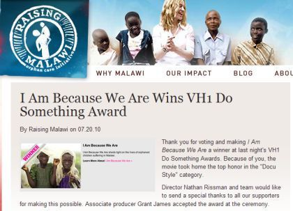 Madonna's ''IABWA'' movie team thanks for 2010 DO SOMETHING! AWARD