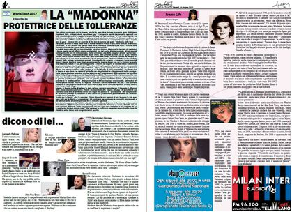 Madonna - MDNA Tour: Italian ''Stadio5'' Special MDNA - June 14, 2012 (download pdf)