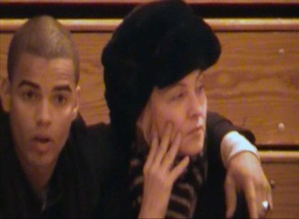 Madonna with Brahim Zaibat at Rocco's Gymnastics Competition