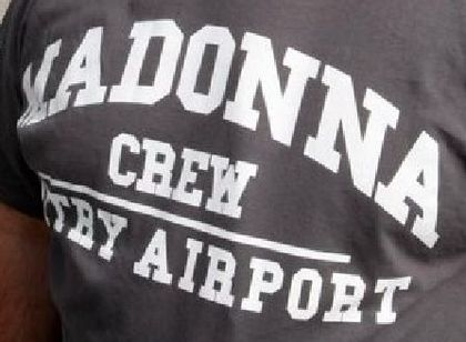 Madonna - MDNA Tour leaving France: ''Madonna Vatry Airport Crew''