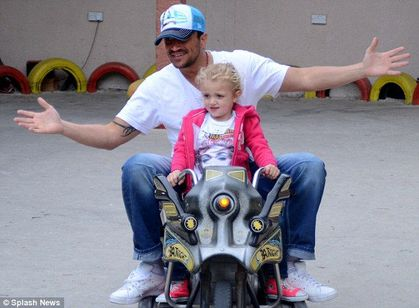 Peter Andre's daughter Princess wearing a Madonna T-shirt