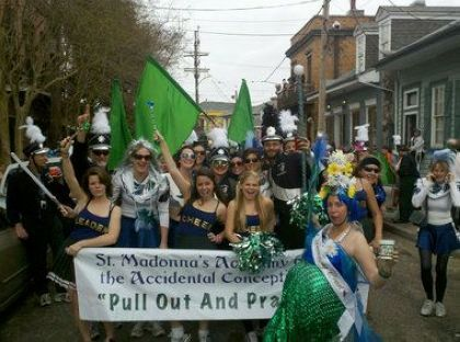 Society of St. Anne channels Madonna as they parade on Mardi Gras