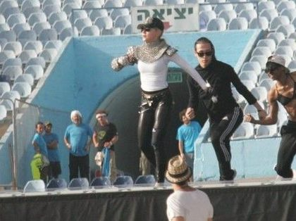 Madonna - MDNA Tour: First Rehearsals at Ramat Gan stadium in Tel Aviv