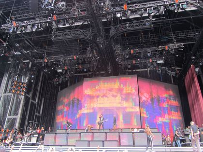 Madonna - MDNA Tour: Fans pictures from the soundcheck in Milan