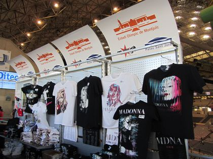 Madonna - MDNA Tour: Merchandising at the show in Barcelona, Spain