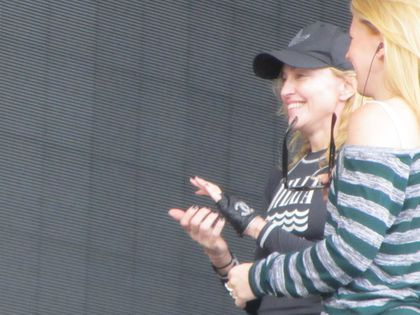 Madonna - MDNA Tour: Fans pictures from the soundcheck in Gothenburg, Sweden - July 04, 2012