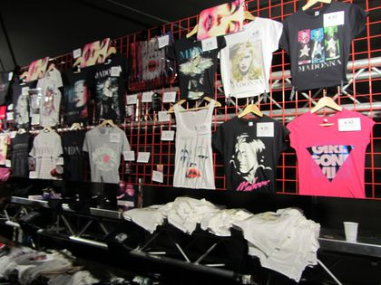 Madonna - MDNA Tour: Merchandising from the show in Amsterdam, Netherlands - July 07, 2012
