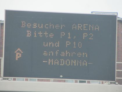 Madonna - MDNA Tour: Fans pictures before the show in Cologne, Germany - July 10, 2012