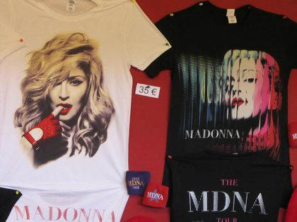 Madonna - MDNA Tour: Merchandising from the show in Paris, France - July 14, 2012