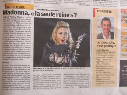 Madonna - MDNA Tour: French newspaper on the show in Paris, France - July 15, 2012
