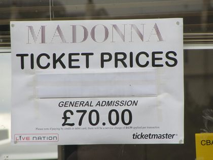Madonna - MDNA Tour: Fans pictures before the show in London, UK - July 17, 2012