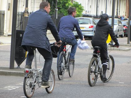 Madonna - MDNA Tour: Exclusive pictures - Madonna cycling from home to concert in Hyde Park - July 17, 2012