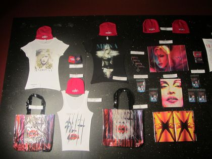 Madonna - MDNA Tour: Merchandising at L'Olympia in Paris