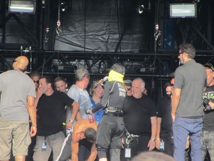 Madonna - MDNA Tour: Fans pictures from the soundcheck in Nice, France - August 21, 2012