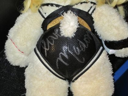 Madonna Signed Custom Teddy Bear Auctionned