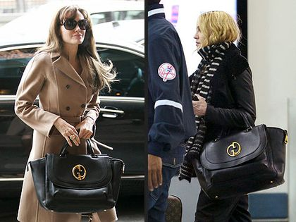 Angelina Jolie or Madonna: Who Wore Her Gucci Bag Better?