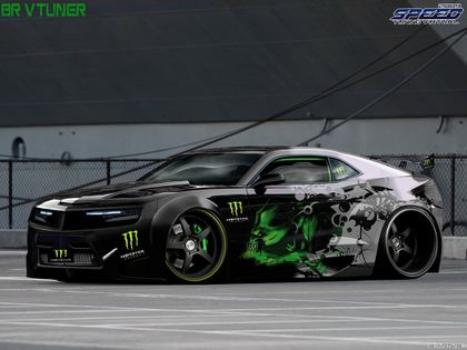 camaro monster energy