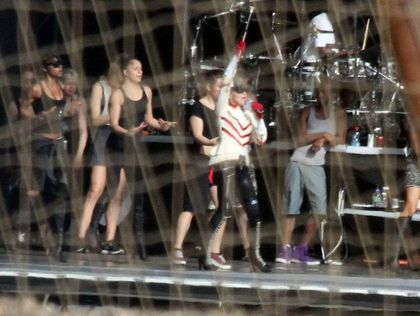 Madonna - MDNA Tour: Third Rehearsals at Ramat Gan stadium