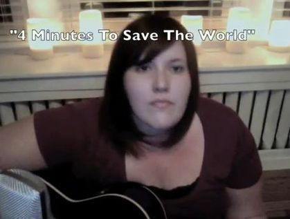 Madonna cover: ''4 Minutes To Save The World'' by Meghan Tonjes