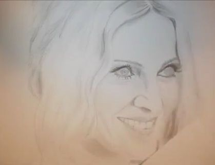 Madonna Speed Drawing by Amane