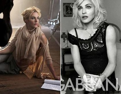 Photos: Kate Winslet and Madonna Channel Similar Ad Campaign
