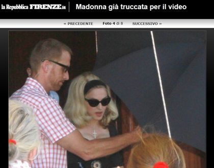Madonna - ''Turn Up The Radio'': Video shoot in Florence, Italy (photos + video)