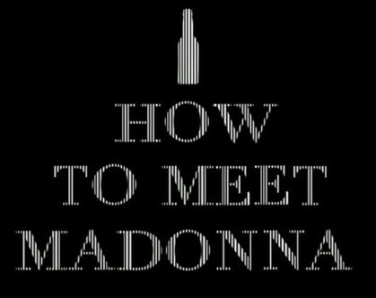 Video: ''How to Meet Madonna'' by Fabio Viana