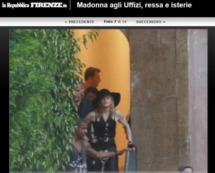 Madonna at the Uffizi Gallery Museum in Florence, Italy - June 17, 2012