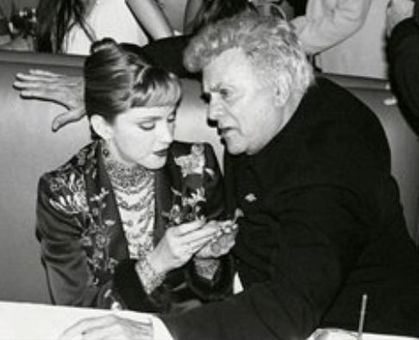 Madonna with Tony Curtis (RIP)