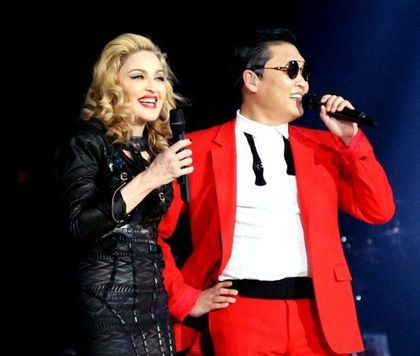 Madonna - MDNA Tour: Madonna with PSY - Photos by Guy Oseary
