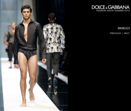 Jesus Luz for Dolce & Gabbana Fashion Show Collection for Summer 2010