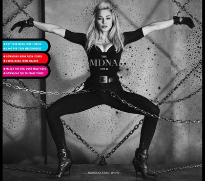 The MDNA Tour opens Madonna.com (new photo)