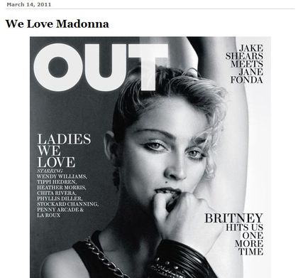 Madonna - Out Magazine, April 2011: The Cover