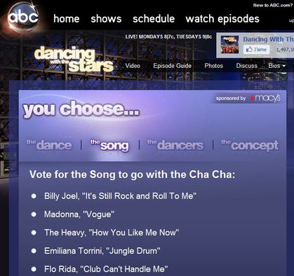 Vote for Madonna at 'Dancing with the Stars - Design A Dance'
