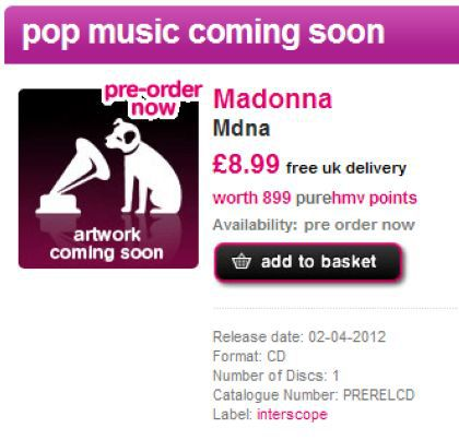 Madonna's ''M.D.N.A.'' album out on April 2, 2012 in UK