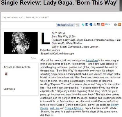 Ryan Tedder: Lady Gagas 'Born This Way' Is Madonna's Express Yourself