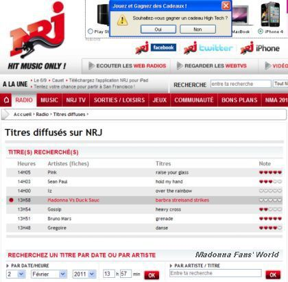 Madonna on NRJ Radio!