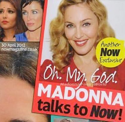 Madonna on the cover of UK magazine ''Now'' - April 30, 2012