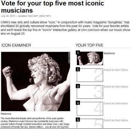 Vote for Madonna as Most Iconic Musician