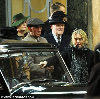 Madonna the film director takes over the streets of London