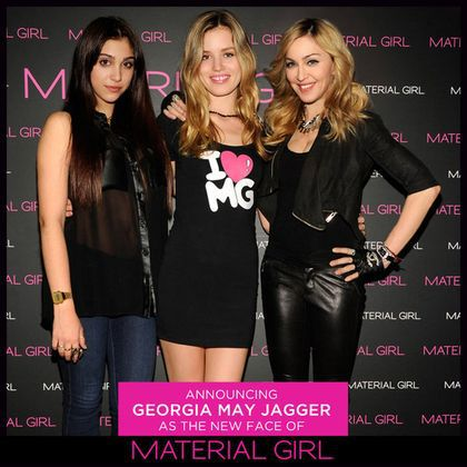 Madonna and Lourdes announce Georgia May Jagger as their new Material Girl