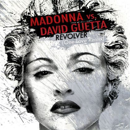 The Cover of Madonna's Single Revolver: One Love Remix by David Guetta